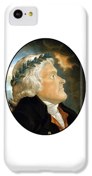 Thomas Jefferson iPhone 5c Case - President Thomas Jefferson - Two by War Is Hell Store