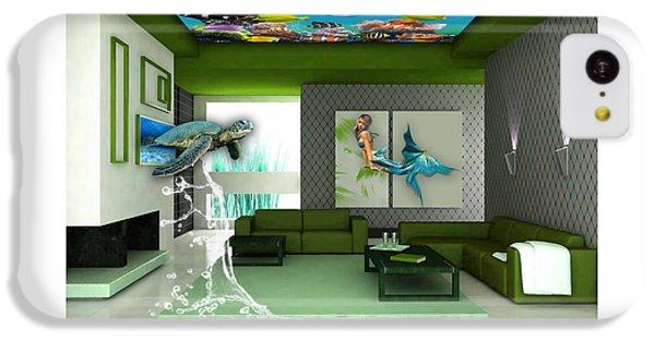 Rooftop Saltwater Fish Tank Art IPhone 5c Case