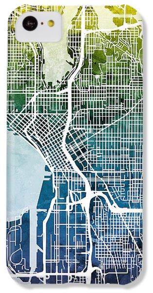 Seattle Washington Street Map IPhone 5c Case