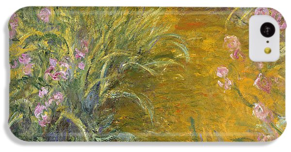 The Path Through The Irises IPhone 5c Case by Claude Monet