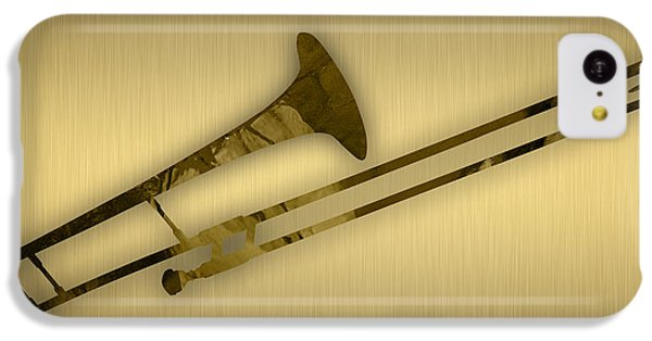Trombone iPhone 5c Case - Trombone Collection by Marvin Blaine