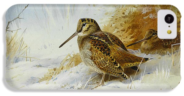 Woodcock iPhone 5c Case - Winter Woodcock by Archibald Thorburn