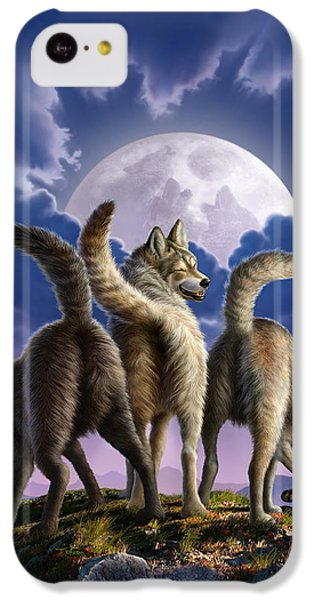 3 Wolves Mooning IPhone 5c Case