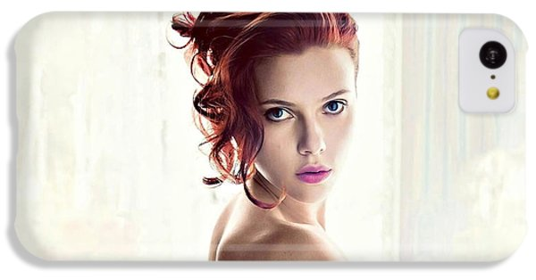 Scarlett Johansson iPhone 5c Case - 36572 Scarlett Johansson by Mery Moon