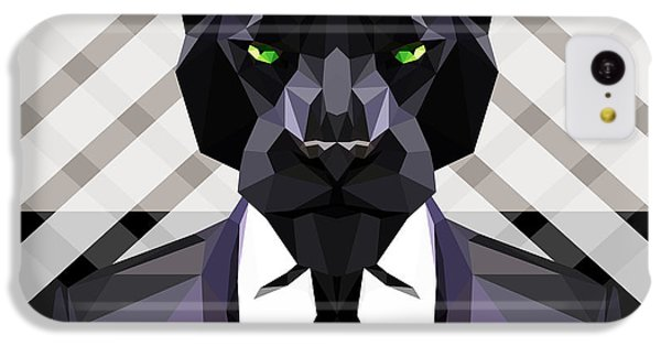 Black Panther IPhone 5c Case by Gallini Design