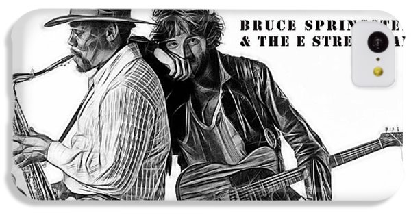 Bruce Springsteen Clarence Clemons Collection IPhone 5c Case by Marvin Blaine