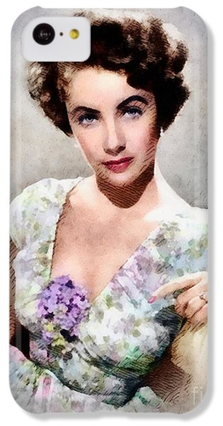 Elizabeth Taylor iPhone 5c Case - Elizabeth Taylor, Vintage Hollywood Legend by John Springfield