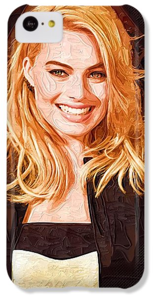 Margot Robbie Painting IPhone 5c Case