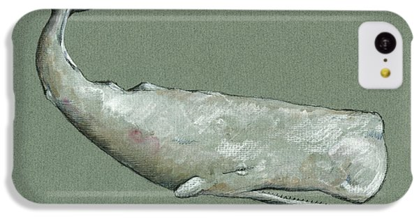 Moby Dick The White Sperm Whale  IPhone 5c Case by Juan  Bosco