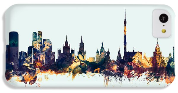 Moscow Russia Skyline IPhone 5c Case by Michael Tompsett
