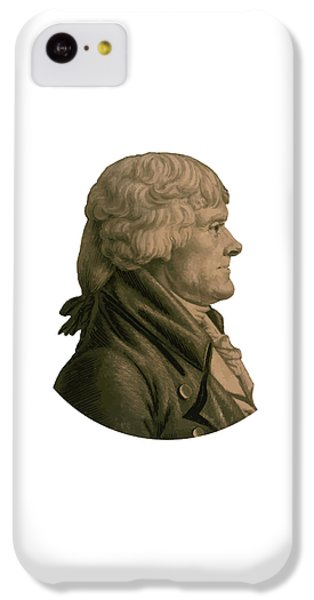 Thomas Jefferson iPhone 5c Case - Thomas Jefferson Profile by War Is Hell Store