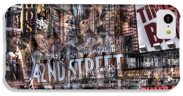 IPhone 5c Case featuring the photograph 42nd Street Times Square 2 by Dave Beckerman