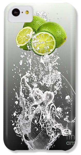 Lime Splash IPhone 5c Case by Marvin Blaine