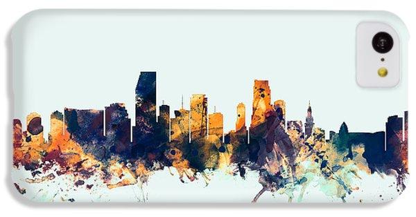 Miami Florida Skyline IPhone 5c Case by Michael Tompsett