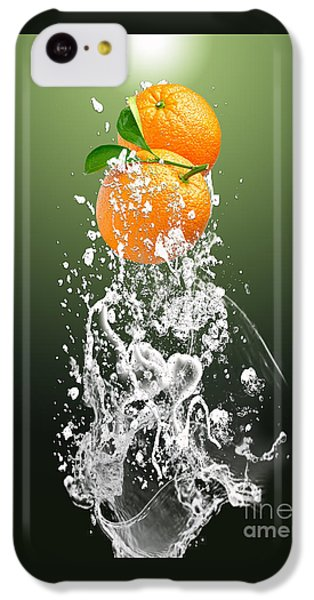 Orange Splash IPhone 5c Case by Marvin Blaine