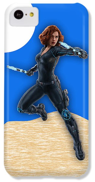 Scarlett Johansson iPhone 5c Case - Scarlett Johansson Black Widow by Marvin Blaine