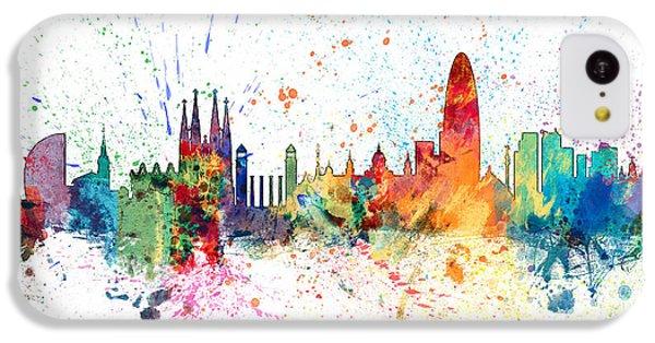 Barcelona Spain Skyline IPhone 5c Case by Michael Tompsett