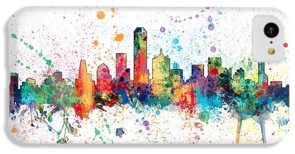 Dallas Texas Skyline IPhone 5c Case by Michael Tompsett