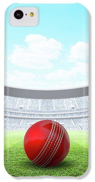 Cricket iPhone 5c Case - Floodlit Stadium Day by Allan Swart