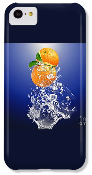 IPhone 5c Case featuring the mixed media Orange Splash by Marvin Blaine