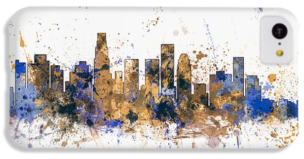 Los Angeles California Skyline IPhone 5c Case by Michael Tompsett
