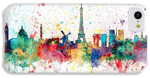 Paris France Skyline IPhone 5c Case by Michael Tompsett