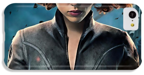 Scarlett Johansson iPhone 5c Case - Scarlett Johansson Black Widow Collection by Marvin Blaine