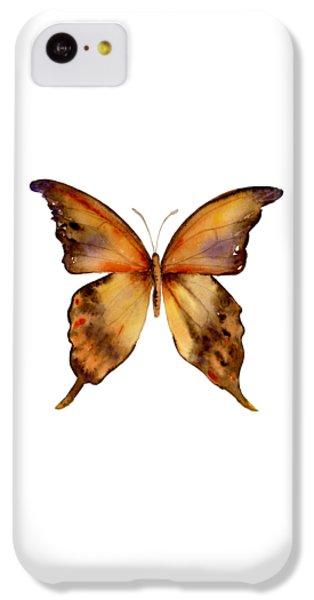 Gorgon iPhone 5c Case - 7 Yellow Gorgon Butterfly by Amy Kirkpatrick