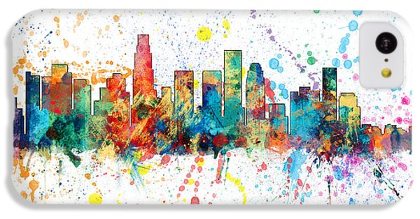 Los Angeles Skyline iPhone 5c Case - Los Angeles California Skyline by Michael Tompsett