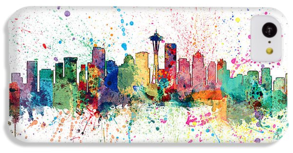 Seattle Washington Skyline IPhone 5c Case by Michael Tompsett