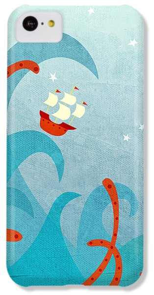 A Bad Day For Sailors IPhone 5c Case by Nic Squirrell