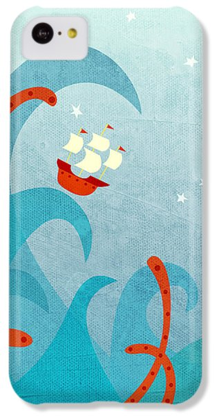 Boat iPhone 5c Case - A Bad Day For Sailors by Nic Squirrell