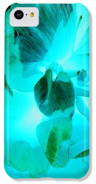 iPhone 5c Case - A Bloom In Turquoise by Orphelia Aristal