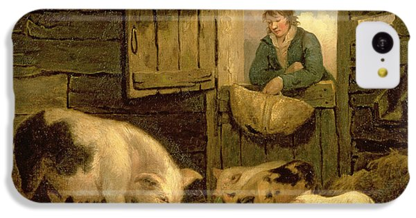 A Boy Looking Into A Pig Sty IPhone 5c Case by George Morland