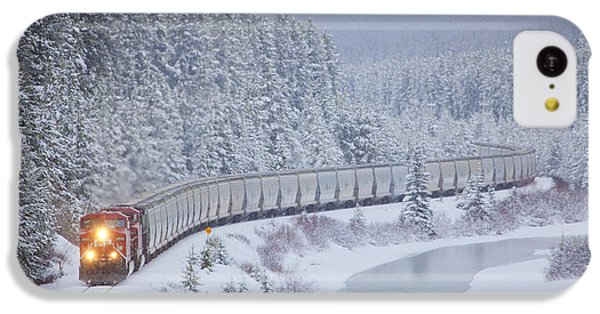 A Canadian Pacific Train Travels Along IPhone 5c Case by Chris Bolin