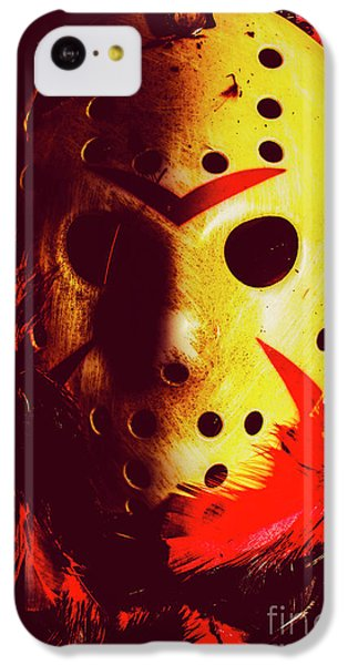 Hockey iPhone 5c Case - A Cinematic Nightmare by Jorgo Photography - Wall Art Gallery