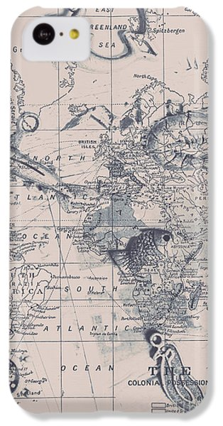 Navigation iPhone 5c Case - A Fishermans Map by Jorgo Photography - Wall Art Gallery