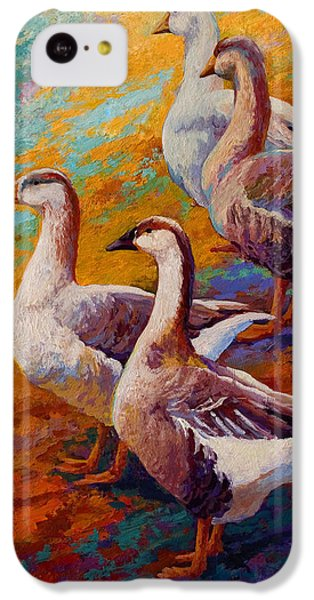 A Gaggle Of Four - Geese IPhone 5c Case by Marion Rose