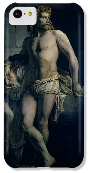 Dungeon iPhone 5c Case - A Gaul And His Daughter Imprisoned In Rome by Felix-Joseph Barrias