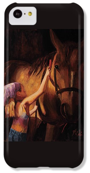 Horse iPhone 5c Case - A Girls First Love by Billie Colson