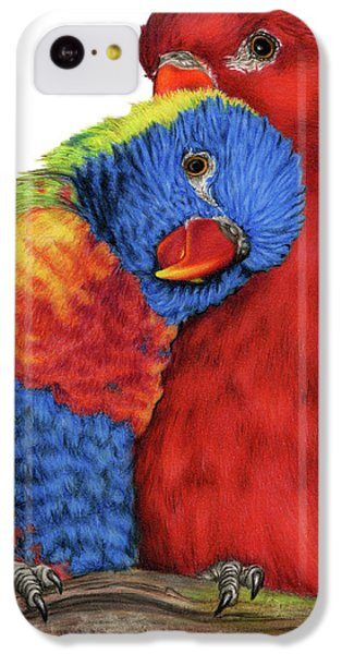 Parakeet iPhone 5c Case - Love Will Keep Us Together by Sarah Batalka