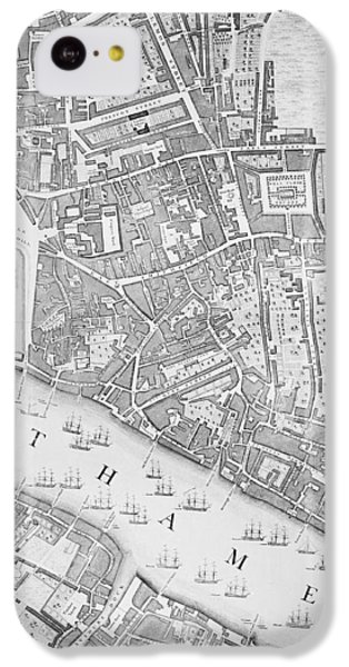 A Map Of The Tower Of London IPhone 5c Case