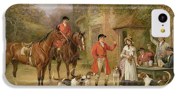 Pigeon iPhone 5c Case - A Meeting At The Three Pigeons by Heywood Hardy