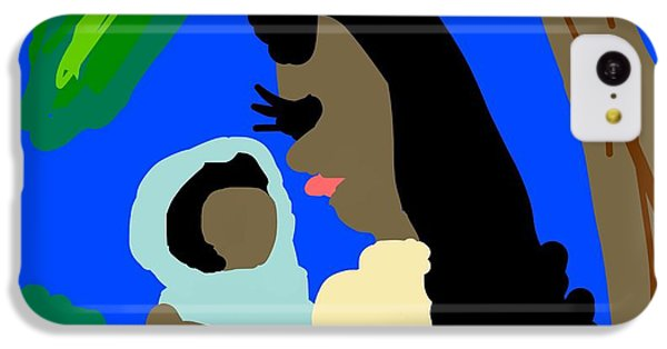 The Art Of Gandy iPhone 5c Case - A Mother Provides Universal Love by Joan Ellen Gandy of The Art Of Gandy