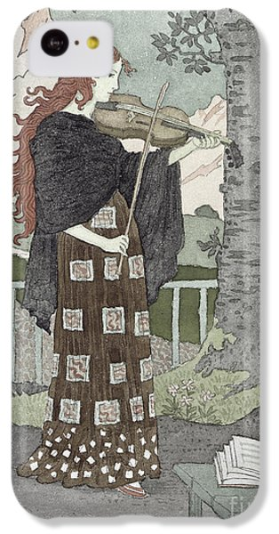 Violin iPhone 5c Case - A Musician by Eugene Grasset