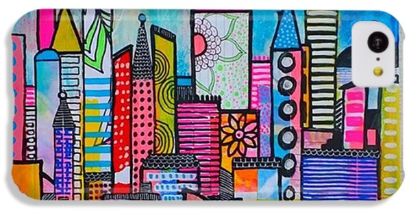 iPhone 5c Case - A New 12 X12 #cityscape #collage by Robin Mead