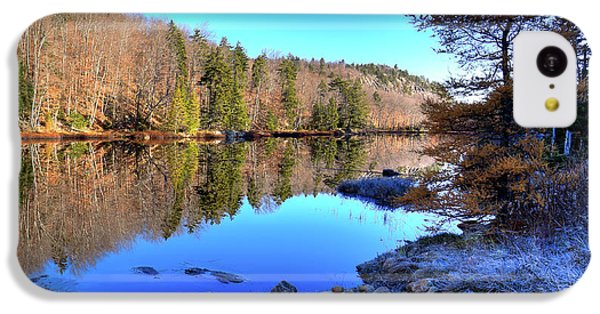 IPhone 5c Case featuring the photograph A November Morning On The Pond by David Patterson