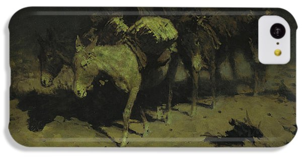 A Pack Train IPhone 5c Case by Frederic Remington