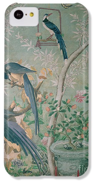 Magpies iPhone 5c Case - A Pair Of Magpie Jays  Vintage Wallpaper by John James Audubon