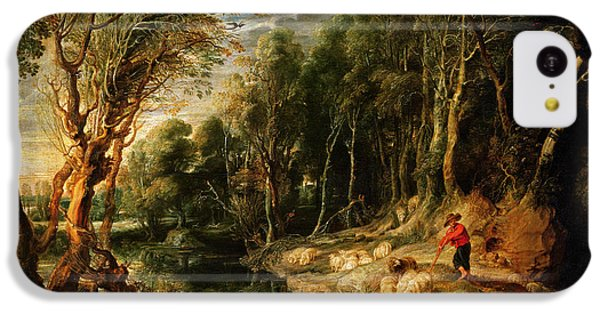 A Shepherd With His Flock In A Woody Landscape IPhone 5c Case by Rubens